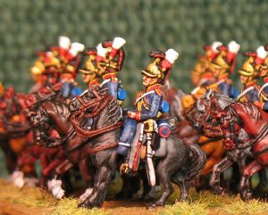 15mm, Napoleonic British House Hold Cavalry (The Blues) 1815 AB 12 figures